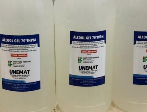 Parceria entre Unemat, IFMT, OPAN e CRQ produz 2000 litros de álcool em gel para indígenas de Mato Grosso e Rondônia
