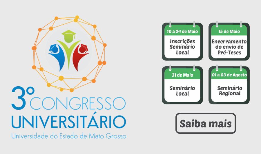 3º Congresso Universitário da Unemat