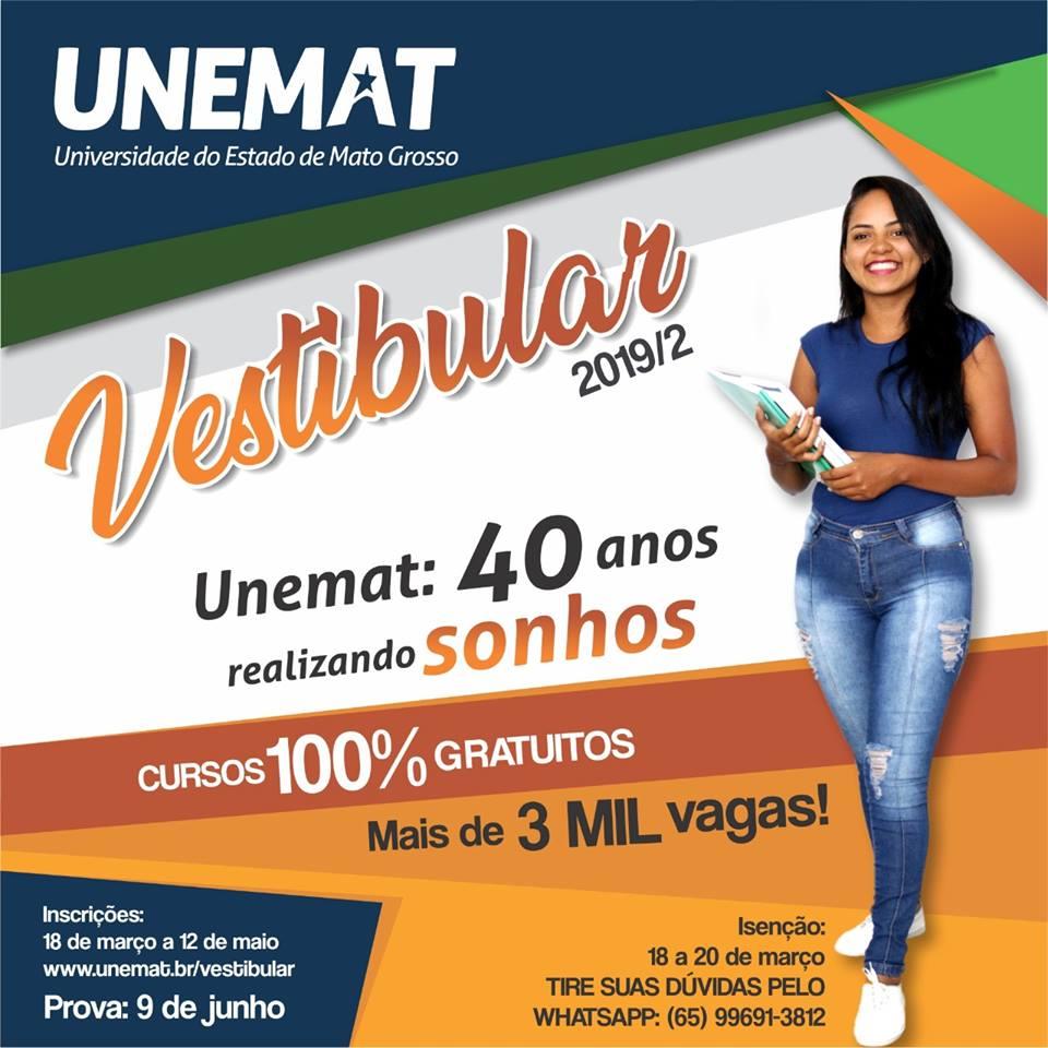 Vestibular Unemat 2019/2