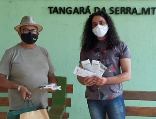 Projeto da Unemat Entrega 100 Máscaras para Entidade Social de Tangará Da Serra