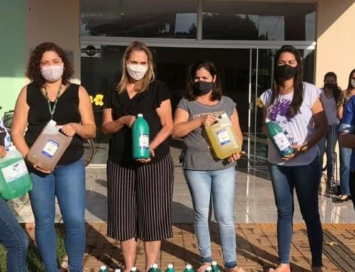 UNEMAT entrega produtos de limpeza a entidades de Tangará da Serra