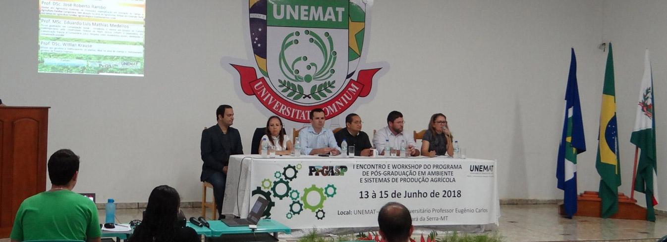 I Encontro e Workshop da Pós-Graduação em Ambiente e Sistemas de Produção Agrícola
