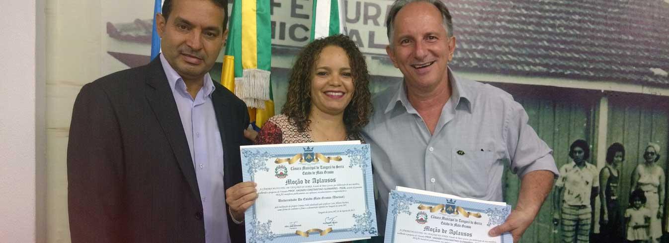 Câmara Municipal concede Moções de Aplausos ao Professor Luiz Alfredo Pacheco e à Unemat