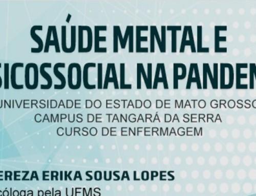Live abordará Saúde mental e Atenção Psicossocial na pandemia Covid-19