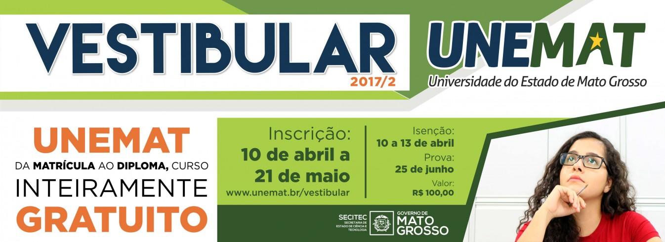 Neste Domingo acontecerá o Vestibular da UNEMAT para Ingresso em 2017/2