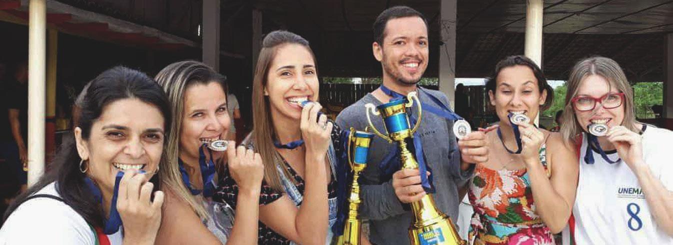 Equipes de vôlei da UNEMAT ganham o torneio JUTS de Tangará da Serra